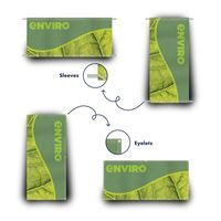 Eyelet and sleeve finish fabric banners
