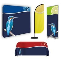 Tablecloth, Media Wall, Feather Flag and Roller Banner