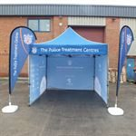 Police Treatment Centre's Custom Printed Event Tent