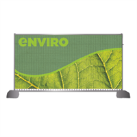 UK green heras fence banners