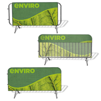 Green Crowd Barrier Covers