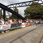 Brecon water PVC printed crowd control barriers