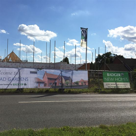Badger Bulding Ltd - Heras Panels and Showhome Pole Flags