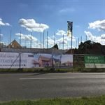 Construction Flags and Heras Panels