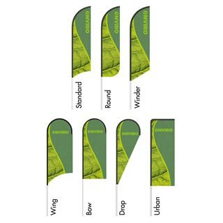 Cheap green feather flags