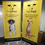Exhibition Branded Dogs Trust Roller Banners