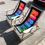 Bespoke Branded Exhibition Deck Chairs