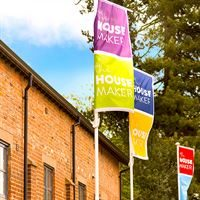 UK Printed Showhome Flags
