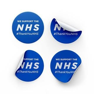 NHS Thank You Floor Stickers
