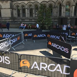 Crowd Control Barrier Covers