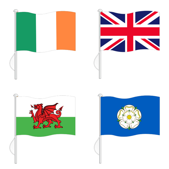 National Flags, World Flags, Flag Printing, Northern Flags, Custom Flag Printing, Union Jack, Scottish Flag, Welsh Flag, Yorkshire Flag, Irish Flags
